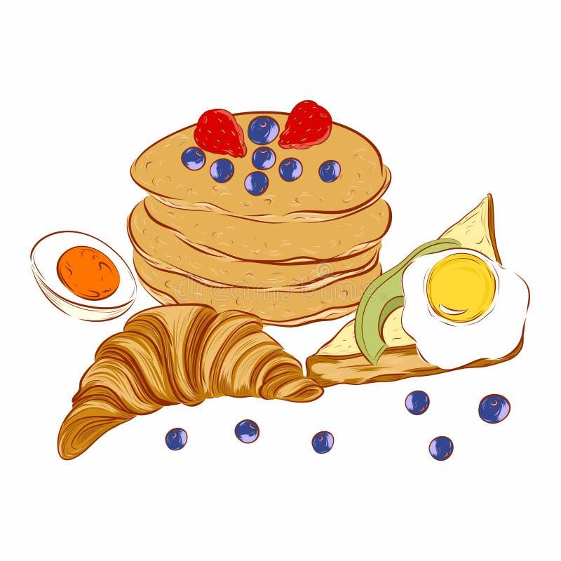 Migliore prima colazione royalty illustrazione gratis