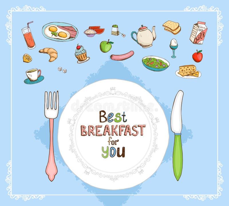 Migliore prima colazione per voi illustrazione vettoriale