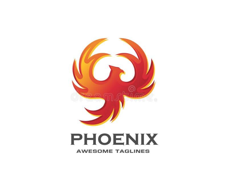 migliore progettazione di logo dell'uccello di Phoenix illustrazione vettoriale