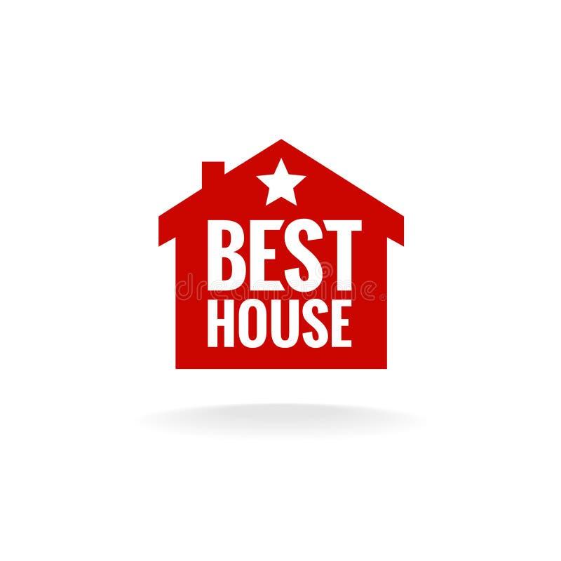 Migliore segno di approvazione della casa illustrazione di stock