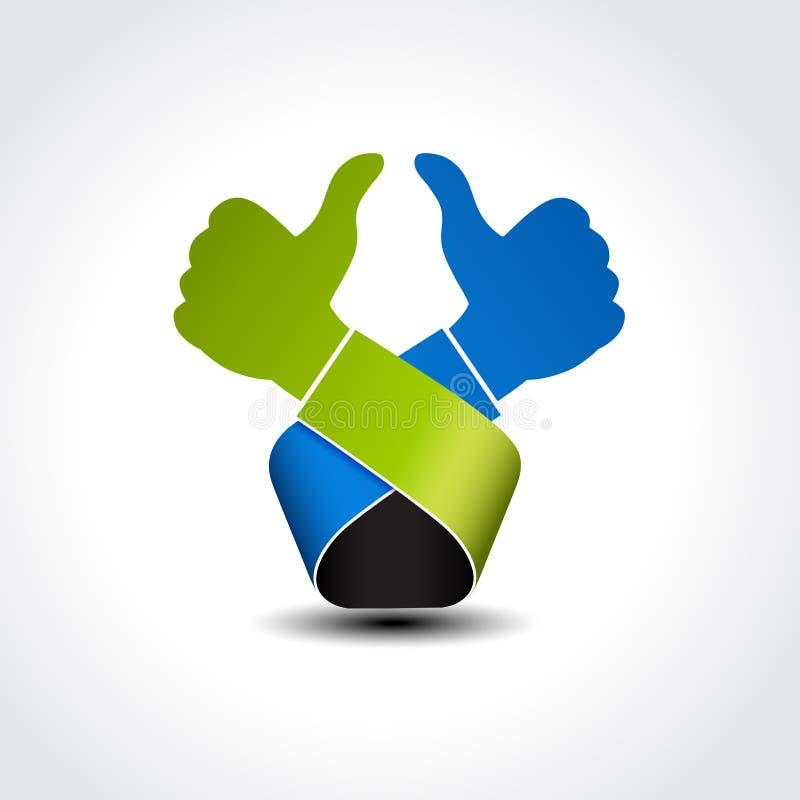 Migliore simbolo choice - gesture la mano, come l'icona, approvazione illustrazione vettoriale