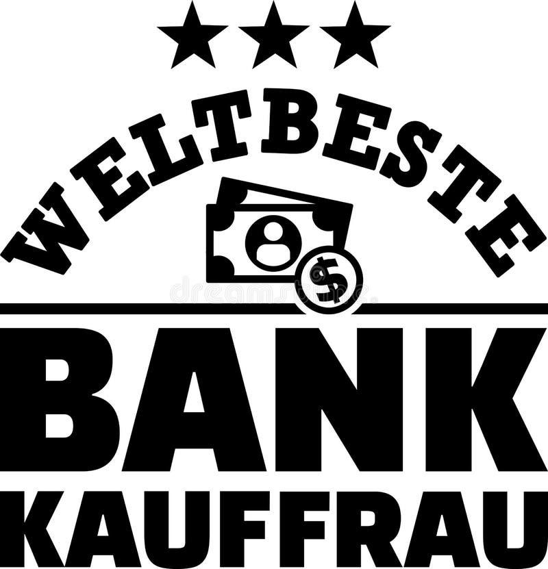 Migliore tedesco femminile del banchiere dei mondi illustrazione di stock