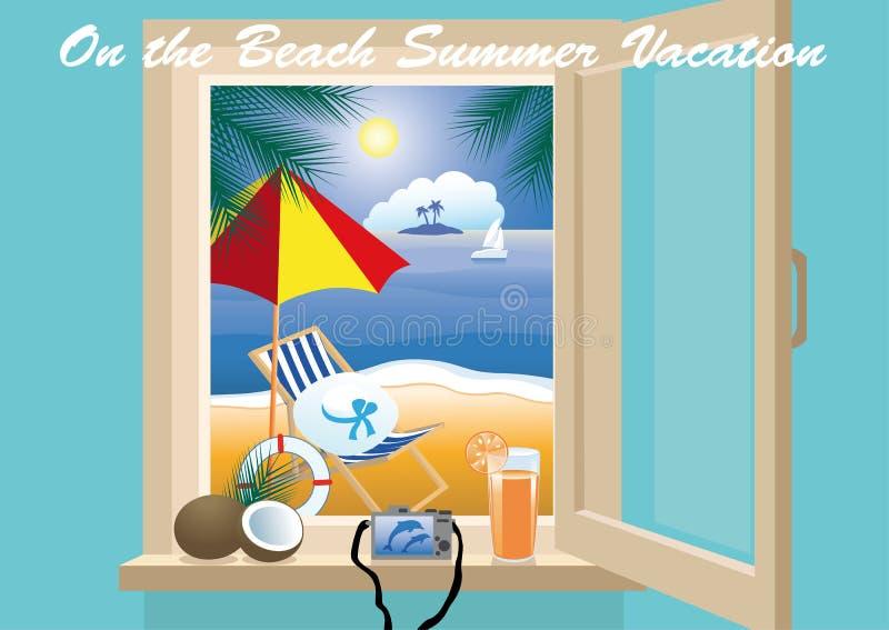 Migliore vacanza della spiaggia illustrazione vettoriale