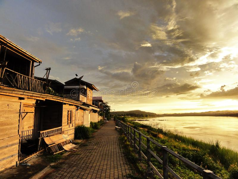 Migliore viaggio di Chiang Khan alla Tailandia di nordest immagine stock