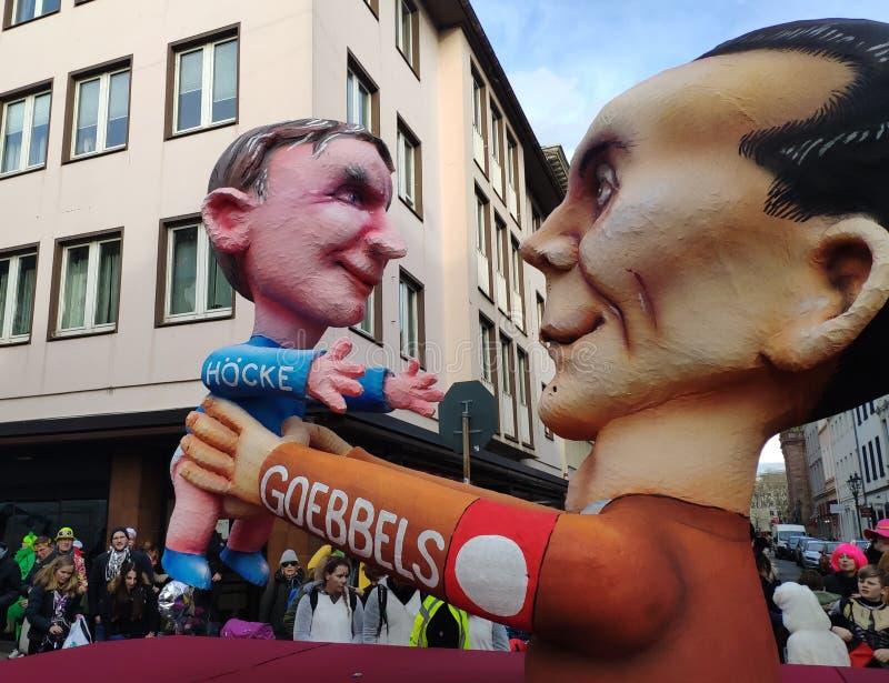 Migliori amici di Höcke e di Goebbels immagini stock libere da diritti
