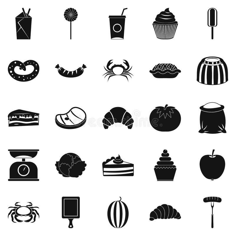 Migliori icone messe, stile semplice della prima colazione illustrazione vettoriale