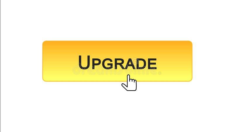 Migliori il bottone dell'interfaccia di web cliccato con il cursore del topo, il colore arancio, aggiornamento illustrazione vettoriale