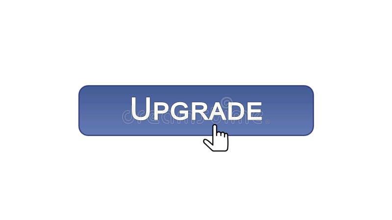 Migliori il bottone dell'interfaccia di web cliccato con il cursore del topo, il colore viola, aggiornamento illustrazione di stock