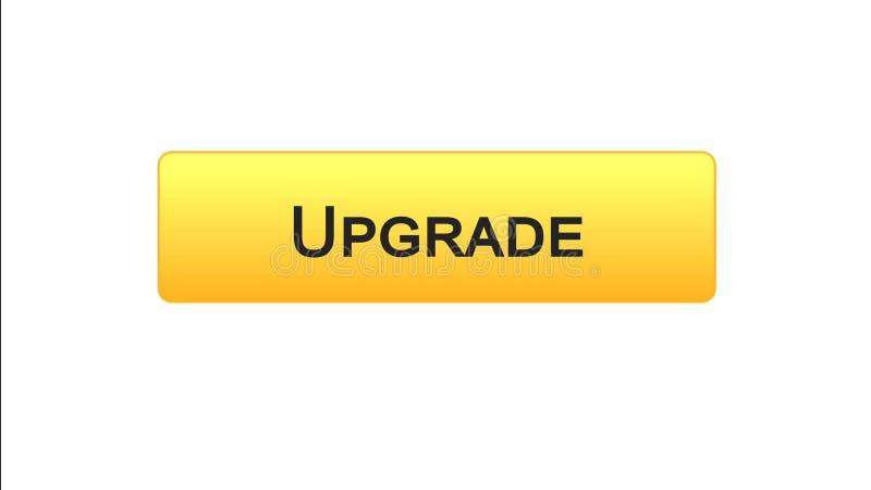Migliori il colore arancio del bottone dell'interfaccia di web, l'installazione di software, aggiornamento di programma illustrazione vettoriale