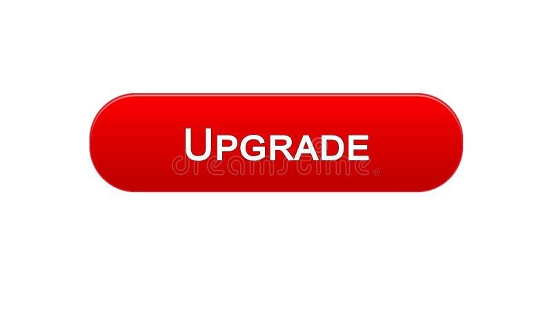 Migliori il colore rosso del bottone dell'interfaccia di web, l'installazione di software, aggiornamento di programma illustrazione di stock