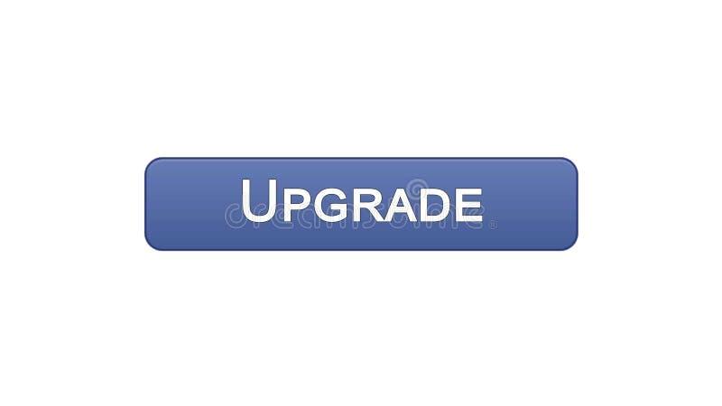 Migliori il colore viola del bottone dell'interfaccia di web, l'installazione di software, aggiornamento di programma royalty illustrazione gratis