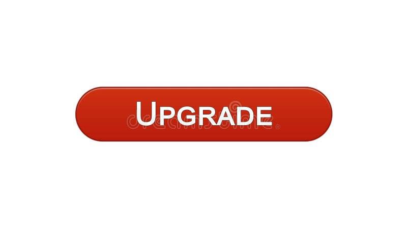 Migliori il rosso di vino del bottone dell'interfaccia di web, l'installazione di software, aggiornamento di programma illustrazione di stock
