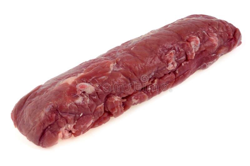 Mignon филе сырцовой свинины на белой предпосылке стоковое фото