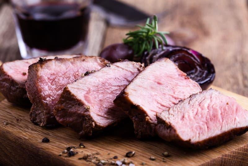 Mignon de faixa delicioso da carne fotos de stock royalty free