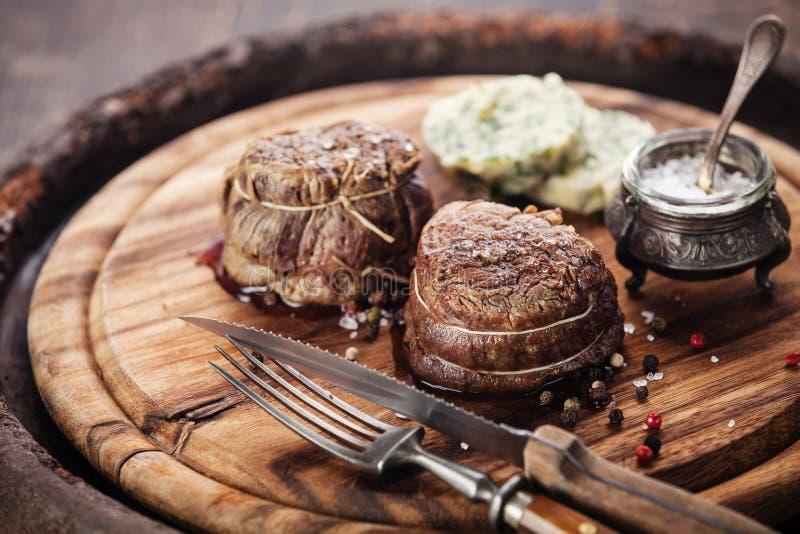 Mignon di raccordo della bistecca di manzo immagine stock