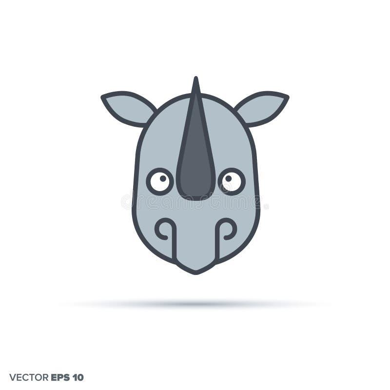 Coloriage En Ligne Rhinoceros.Trame De Dessin De Couleur De Rhinoceros Illustration De