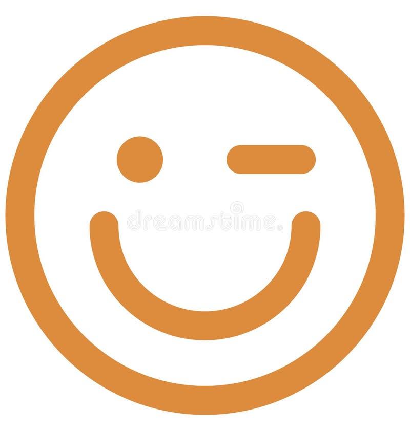 migotanie emocje, emoticons migotania emocje, emoticons wektor Odizolowywająca ikona wIsolated ikonę która może łatwo modyfikować ilustracja wektor