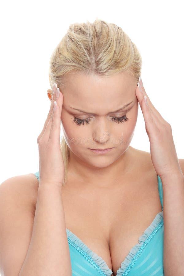 Migräne stockbild