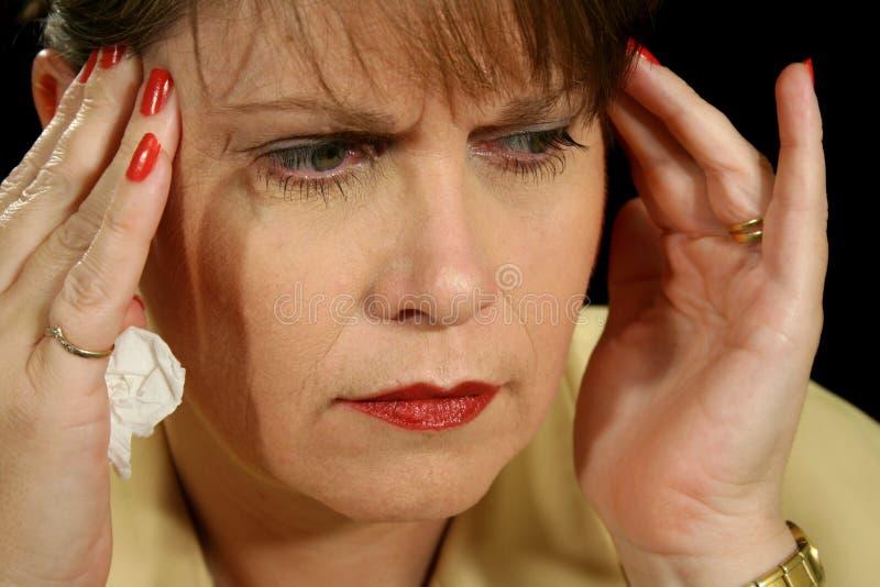 Migräne 2 lizenzfreie stockfotos