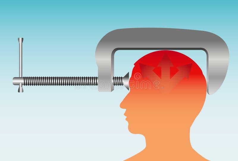 Migräne stock abbildung