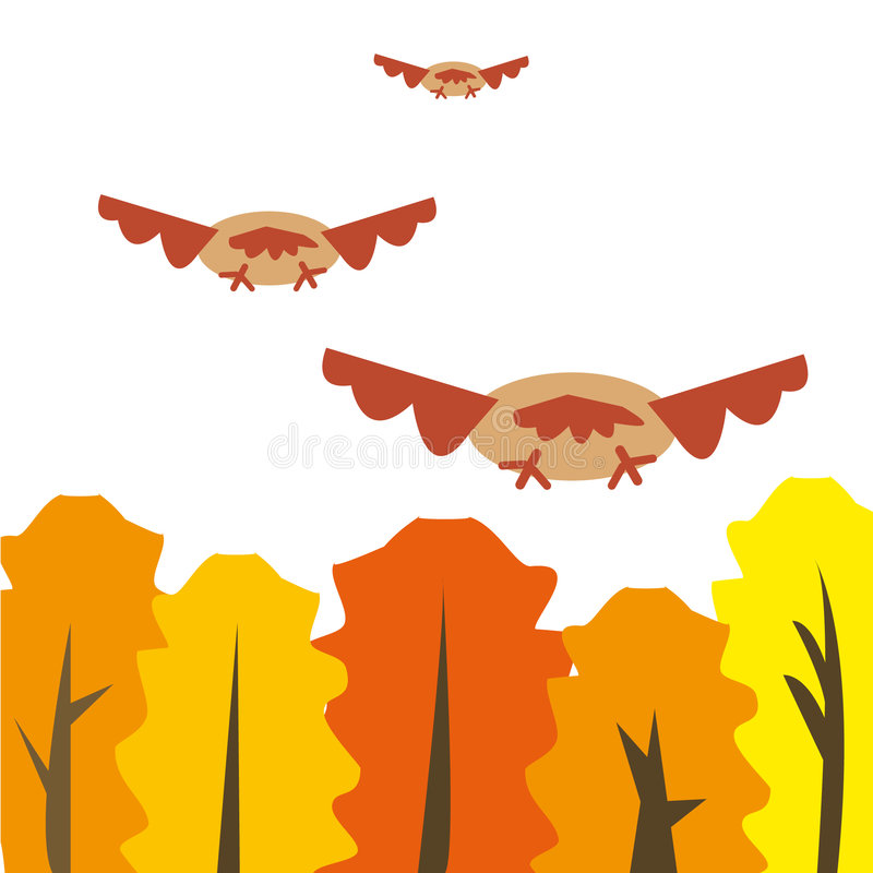 Migrant birds. Illustration of migrant birds. You can find similar images in my gallery vector illustration
