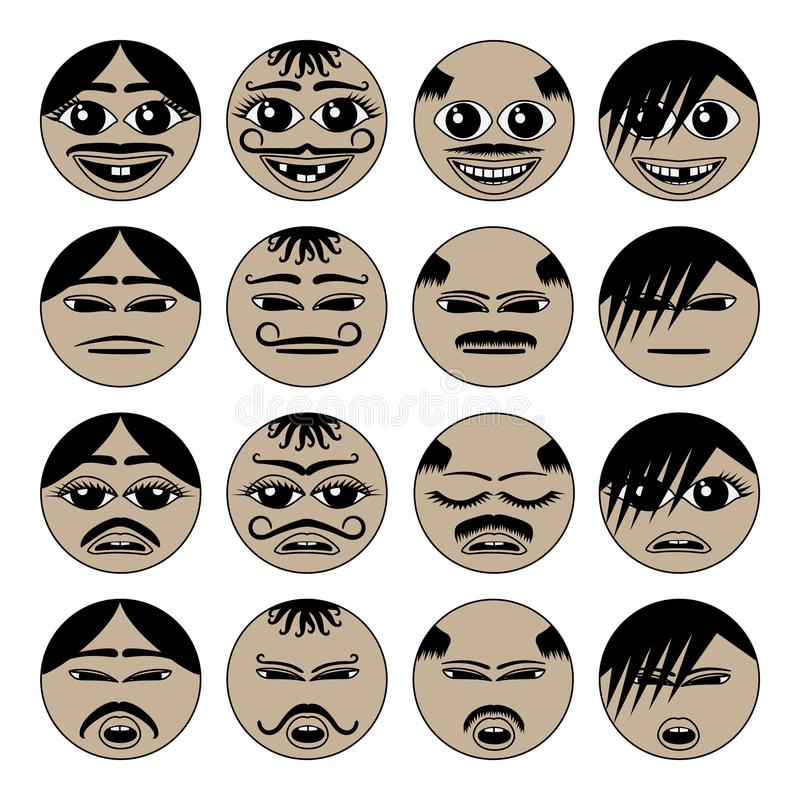 Migrant emoji icons royalty free illustration