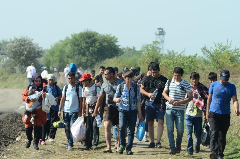 migrants photo libre de droits