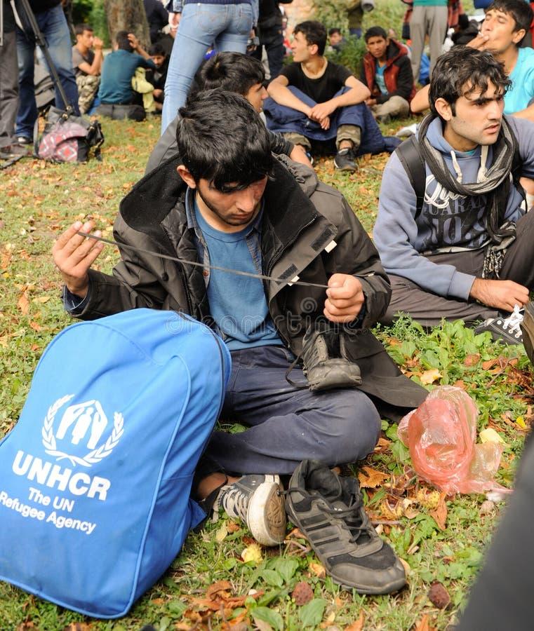 Migrants de Moyen-Orient photos stock