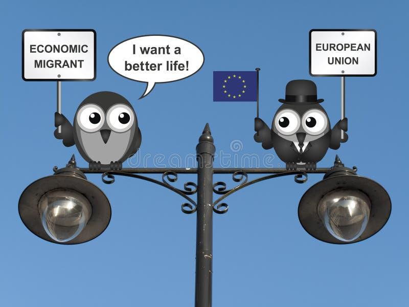 Migration économique illustration de vecteur