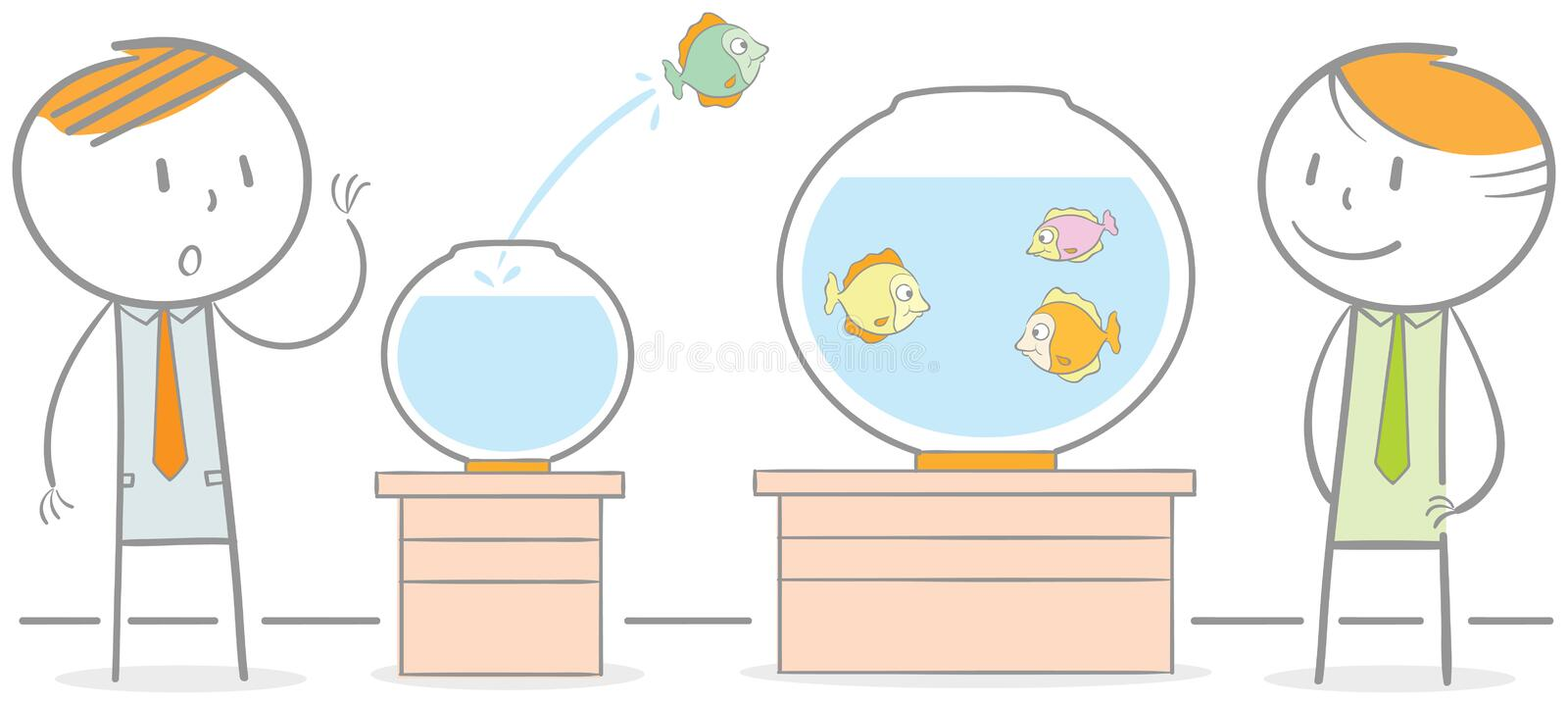 Migration de poissons illustration libre de droits
