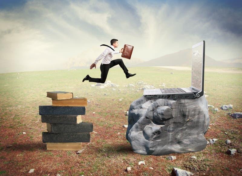 Migration de technologie images stock