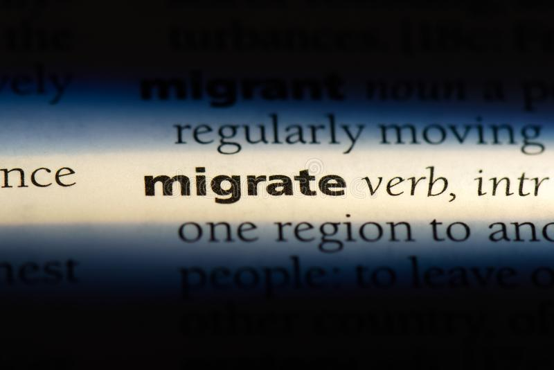 migreer stock afbeelding