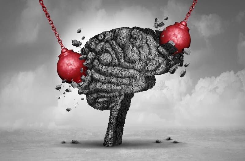 Migrena ból ilustracja wektor