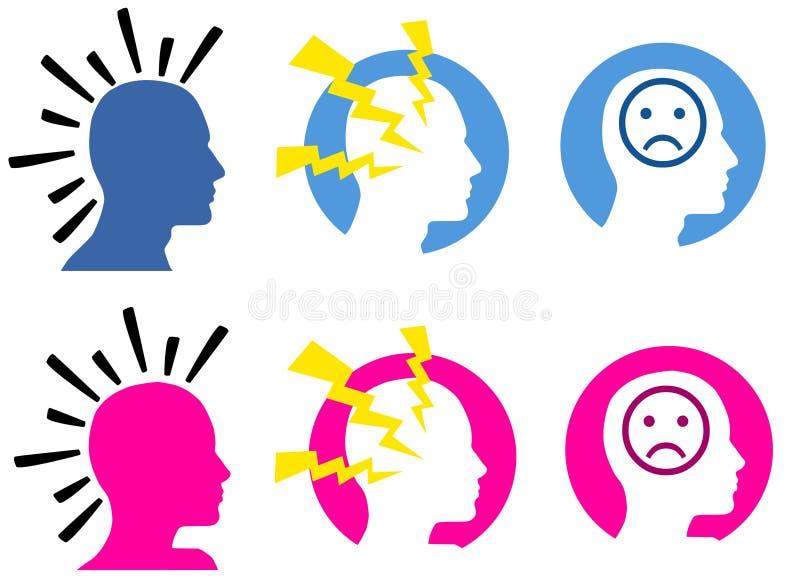 migreny royalty ilustracja
