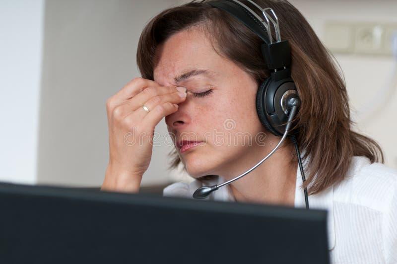 migreny biznesowa kobieta obraz stock
