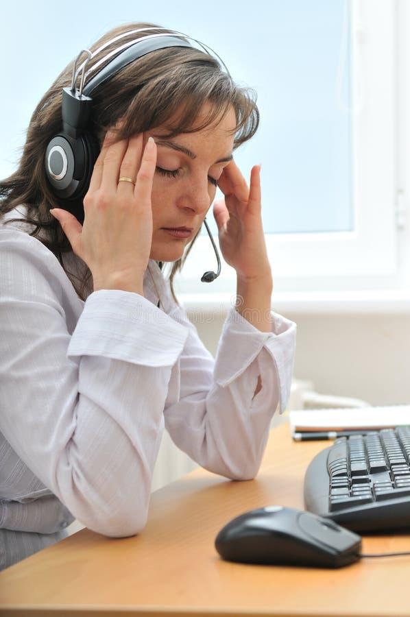 migreny biznesowa osoba męczył obrazy stock