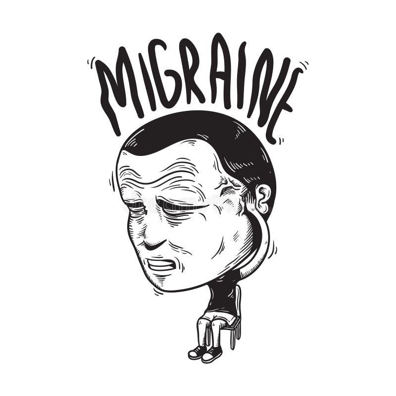 Migreny choroby objawów Zaakcentowany pojęcie ilustracji