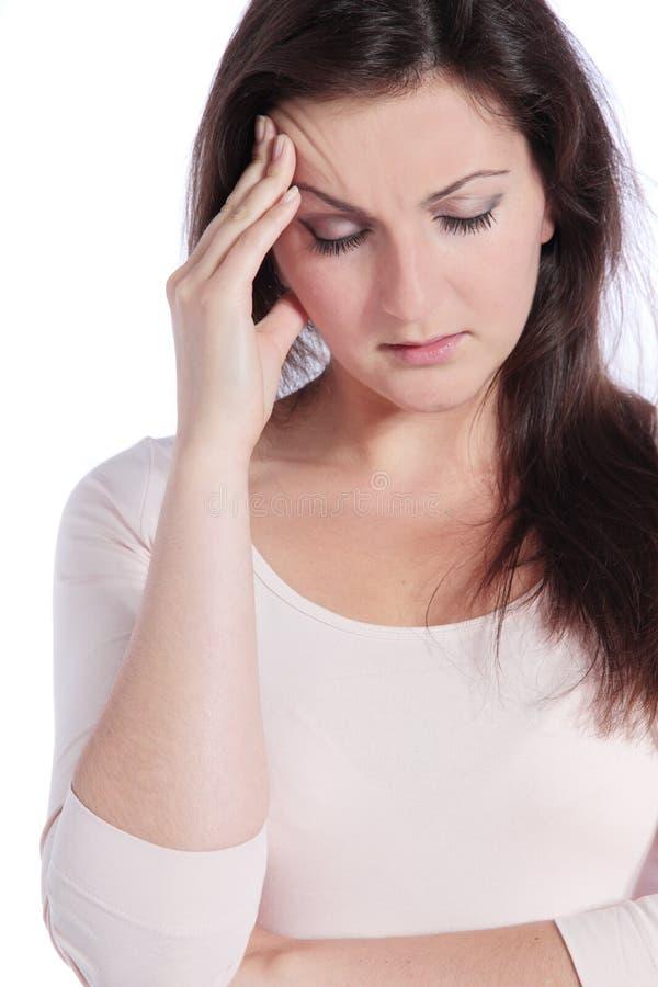 migreny cierpienia kobieta fotografia royalty free