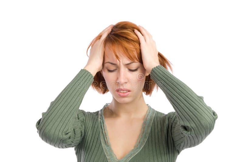 migreny cierpienia kobieta zdjęcie stock