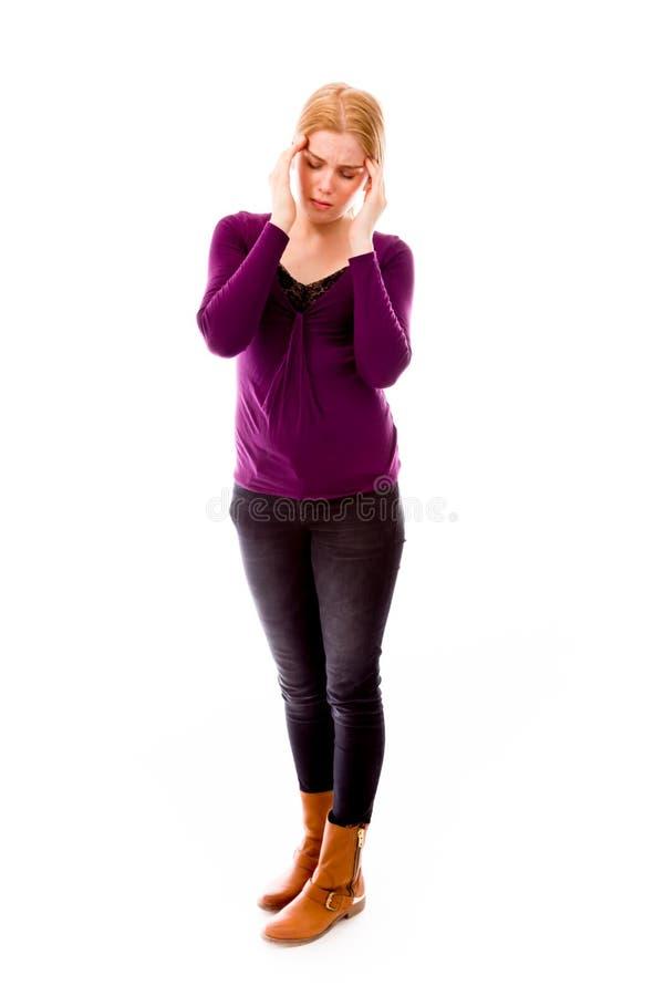 Download Migreny Cierpienia Kobiety Potomstwa Obraz Stock - Obraz złożonej z smucenie, widok: 41950087
