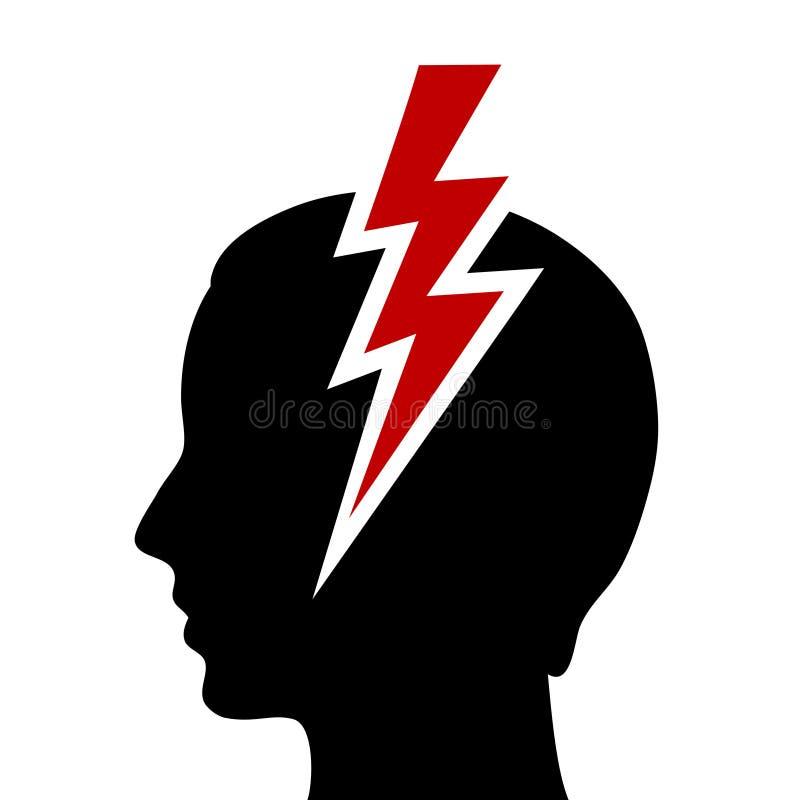 Migreny ikona royalty ilustracja