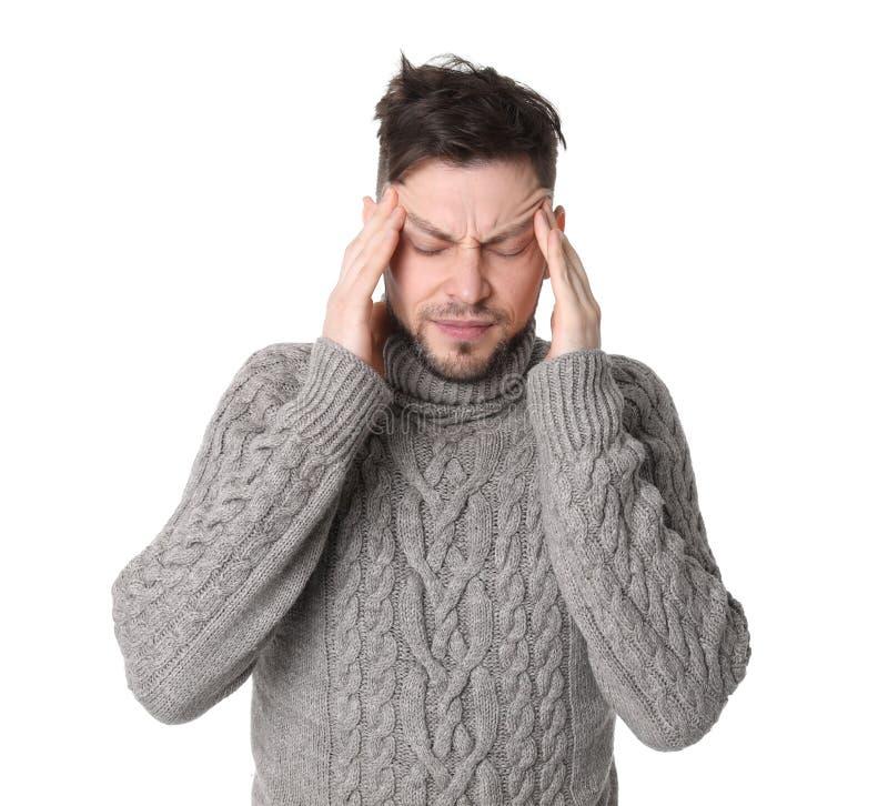 migreny mężczyzna cierpienie obrazy royalty free