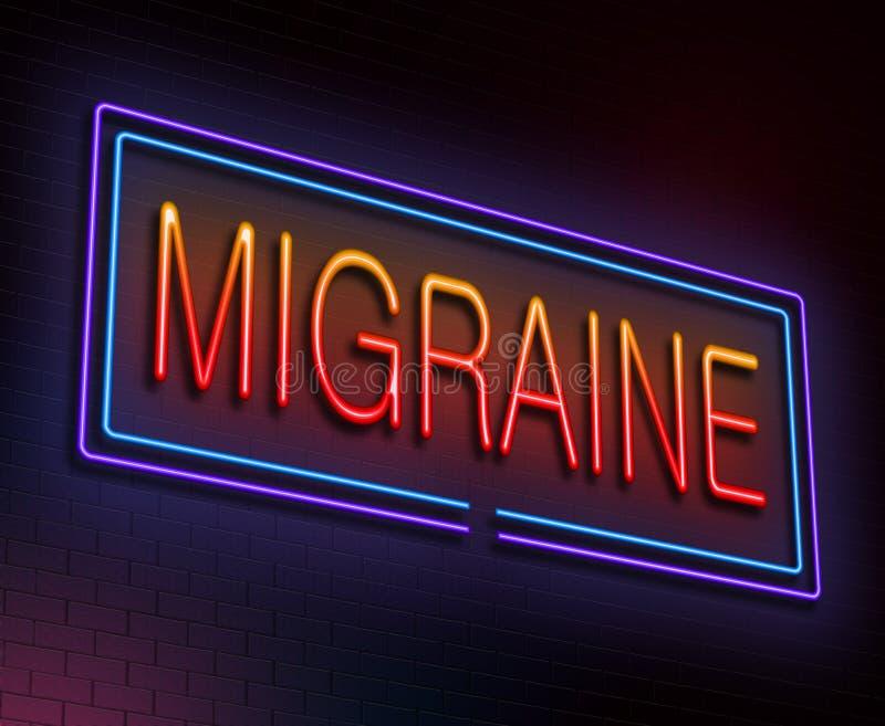 Migreny pojęcie. royalty ilustracja