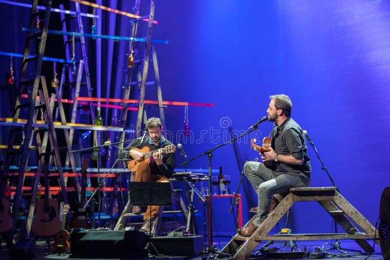 Miguel Araujo e Antonio Zambujo - Coliseu royalty-vrije stock fotografie