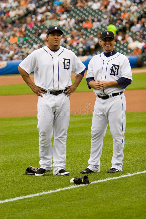 Miguel Cabrera And Magglio Ordonez images libres de droits