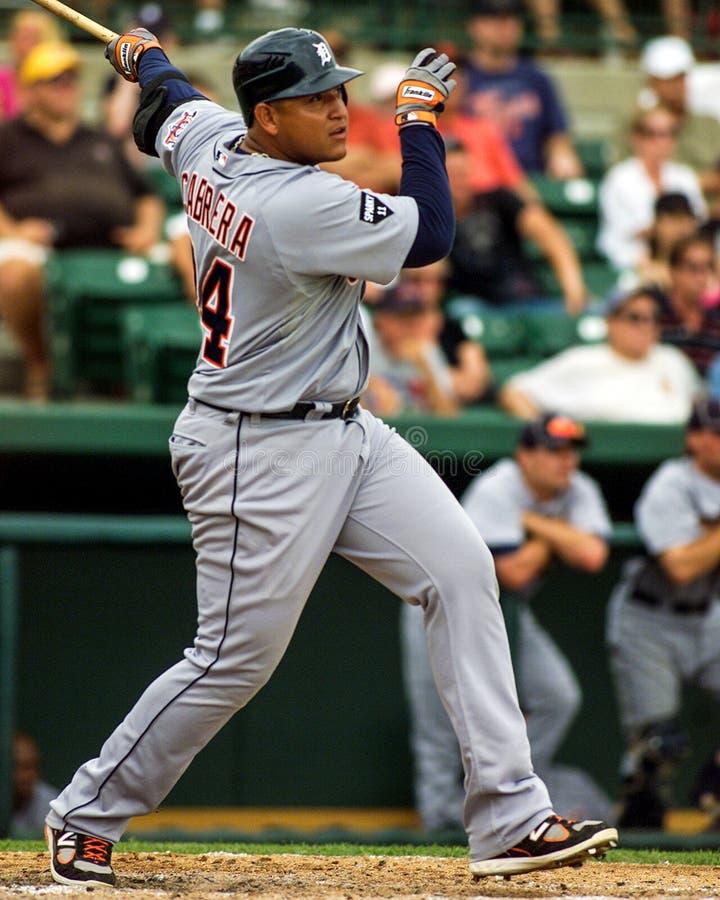 Miguel Cabrera van de Detroit Tigers royalty-vrije stock afbeeldingen