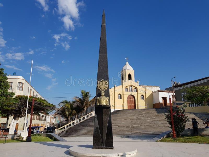 Miguel Grau, een kerk stock fotografie