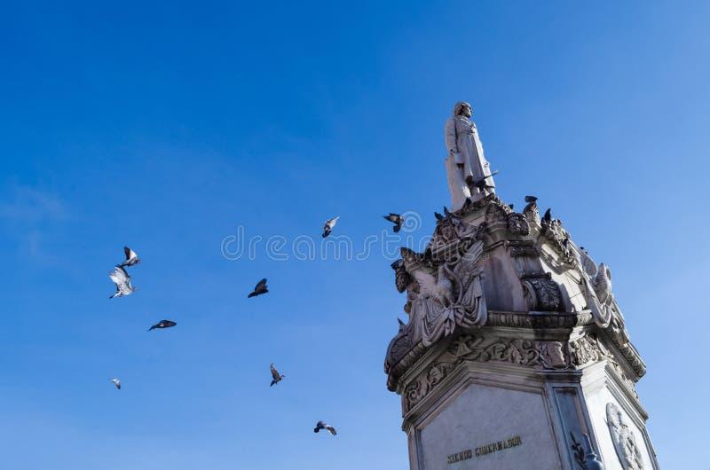 Miguel Hidalgos Monument stockbild