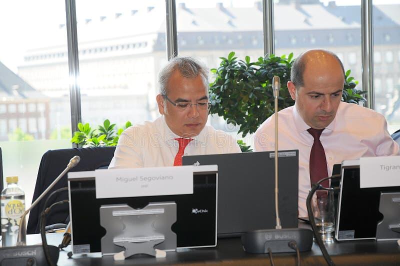 MIGUEL A IL GRUPPO DI SEGOVIANO_IMF VISITA LA DANIMARCA fotografia stock