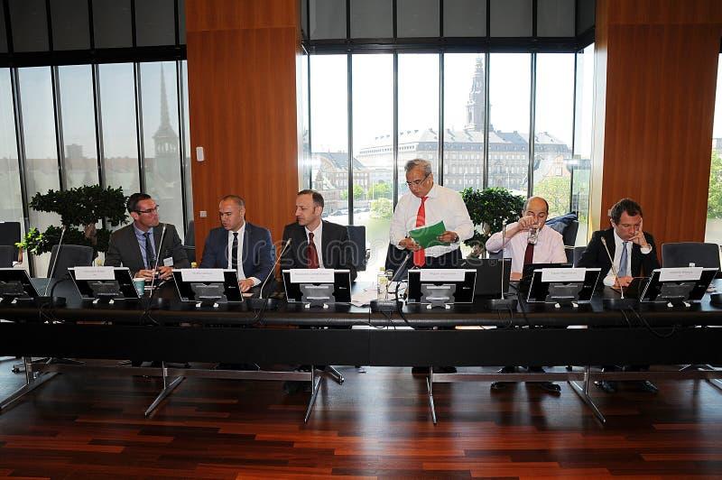 MIGUEL A IL GRUPPO DI SEGOVIANO_IMF VISITA LA DANIMARCA fotografia stock libera da diritti